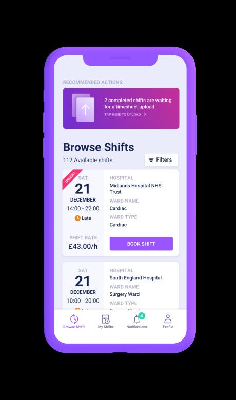 Altrix app screen